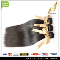Wholesale Remy Human Hair Weaves Hair Extensions Mongolian Virgin Hair Weft Silky Straight A quot quot Natural Color Dyeable Queen Hair Products