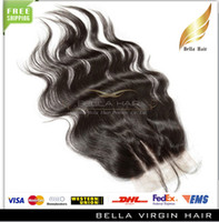 Wholesale 100 Brazilian Human Virgin Hair Part Lace Closure Top Closure Human Hair Extensions Body Wave Natural Color DHL