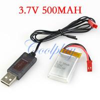 venda por atacado jxd-Frete grátis 1pcs 3.7V500mAh bateria + 1pcs USB carregador de linha para JXD 333 338 3.5ch helicóptero rc