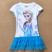 Fashion 2014 Frozen Princess Dress Frozen Girls Dress Elsa T...