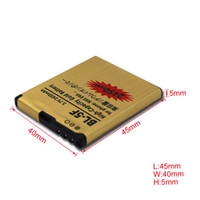 Wholesale High Capacity mAh BL F Gold Golden Business Replacement Battery Rechargeable Li ion Battery for Nokia E65 N95 N96 churchill