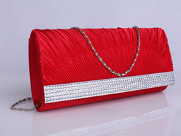 Wholesale In Stock Elegant White and Red Wedding Favor Bags Bridal Garment Bags with Rhinestone JYB563