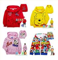 Wholesale QA Autumn children boy girl Sweater cardigan princess Cartoon best Quality children hoodie clothing Y