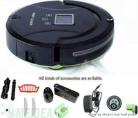 Wholesale GLOBAL WARRANTY Years In Robot Vacuum Cleaner Sweep Vacuum Mop Sterilize LCD touch screen Schedule Way Virtual Wall Self Charged