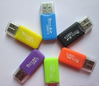 Wholesale 2014 NEW High Speed USB Micro SD T Flash TF M2 Memory Card Reader adapter gb gb gb gb gb gb TF Card
