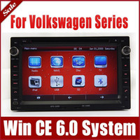 Wholesale 2 Din Head Unit Car DVD GPS Navigation for VW Volkswagen Golf Polo Sharan Transporter with Radio Bluetooth TV USB SD AUX G Auto Audio Video