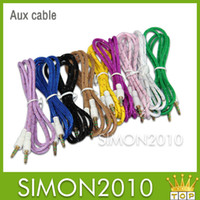 Wholesale Braided Woven AUX Audio Cable For Iphone M FT mm Jack Stero Car Aux Audio Extention Cables For phone PC MP3 Headphone Speaker New Style