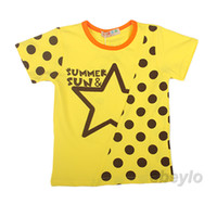 Boy Summer Standard Children Clothing 2014 Baby Boys Clothes T-shirt O-neck Shorts Sleeved Star Summer Outfit Pure Cotton Cool Style For Party Drop Shipping