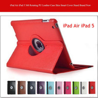 Smart Cover/Screen Cover 9.7'' For Apple High Quality iPad Air iPad 5 360 Rotating PU Leather Case Skin Smart Cover Stand Best Price