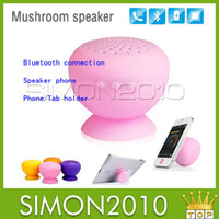 Wholesale Mini Mushroom Bluetooth Speaker Wireless Hands free Waterproof Silicone Suction for iPhone s s iPad air Samsung Galaxy i9500