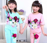 For Big Girl Set Short Sleeve Pure Cotton T- shirt + Harem Pa...