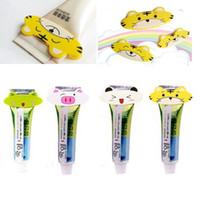 Cheap Free Shipping10Pcs Lots 4 DesignLovely Animal Bathroom Toiletries Toothpaste Tube Squeezer Easy Press Dispenser Innovative Item