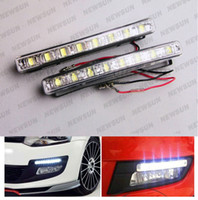 Cheap 8 LED led drl high power Best White 12V car led drl lights
