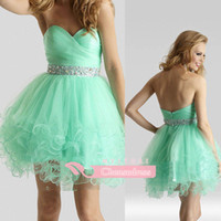 Reference Images Tulle Sweetheart Cheap Sheer Net Homecoming Dresses With Sweetheart Beaded Crystals Sash Zipper Back Sexy Short Mini Skirt Custom Made New Cocktail Gowns