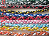Wholesale USA s best selling ropes braid Tornado Germanium Titanium Necklace Fashion Jewelry Health Sports Baseball OEM customization