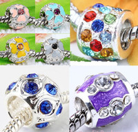 Wholesale 2014 HOT Sterling Silver beads charms Fits European pandora style Bracelets Mixed