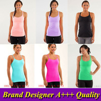 Wholesale new singlet women lululemon gym yoga singlet women high quality dryfit singlet top for women women gym tops