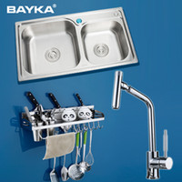 Wholesale Becket Deluxe Package slot kitchen sink faucet stainless steel kitchen knife suit glove KITCHEN