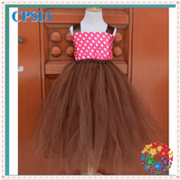 TuTu Summer Ball Gown hot selling wholesale baby charming dresses stylish tutu dress 2 layers matched chest and wide shouldres straps set for kids 12pcs lot(10)