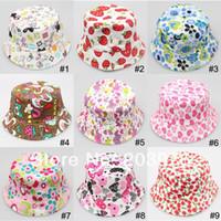 Girl Summer Crochet Hats retail price $4.5 free shipping children sun hat bucket hat