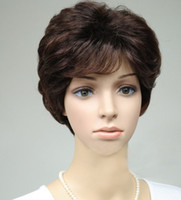 Wholesale Middle aged lady wig simulation short hair wig High temperature wire wig