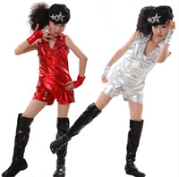 Wholesale New sixty one children hip hop jazz modern dance costumes Children s clothes girls stage clothes