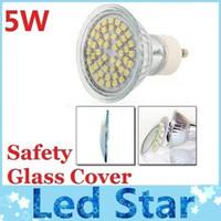 CE ROHS + GU10 Led 5W ampoules lumière 48 SMD 3528 Led s'allume E27/MR16/chaud blanc Led projecteurs avec verre de sécurité couvrent 110-240V 12V