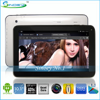 Wholesale New quot inch A31S Quad Core Android KitKat Tablet PC G DDR3 G G GB With HDMI Bluetooth HD screen Allwinner A31S MID