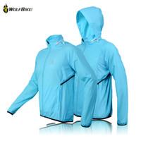 Wholesale WOLFBIKE fashion Man Women Cycling Waterproof Jacket Bike Rain Coat Bicycle Windproof Jersey blue green for sports BC231