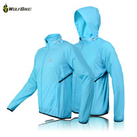 Wholesale WOLFBIKE fashion Man Women Cycling Waterproof Jacket Bike Rain Coat Bicycle Windproof Jersey blue green for sports BC231