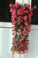 plastic vine - 1p cm Artificial flower Silk winter jasmine flower vine plastic wisteria for home party wedding decorations