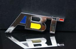 Free Shipping ABT 3D Chrome Car Badge Decal Emblem ABT metal sticker Badge Emblem with Chrome for Audi 4x4 4WD A3 A4 A5 A6 car sticker