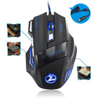 Wholesale 2014 New arrival Hot sale DPI Button LED Optical USB Wired Gaming Mouse Mice For Pro Gamer FreeShipping Wholesales