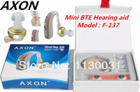 Wholesale Hot Selling AXON Mini BTE hearing aid F sound amplifier ear AG5 Button Battery ctn DHL