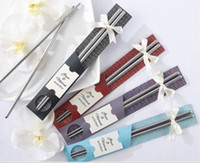 Wholesale Hot Stainless Steel Chopsticks Best Gifts for wedding business birthday Home Tableware