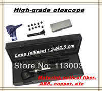 Wholesale High grade hot sell Medical ear fiber Optic otoscope ear endoscope ABS copper with nice gift box DHL