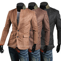 Jackets Men Other 1047# 2014 HOT New Men's Slim Fashion Faux suede fabric suit Jacket Coat Outerwear
