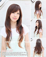 Wholesale 3 Color women s Lady fashion wig Long WAVY wigs cosplay wigs synthetic hair wigs cap