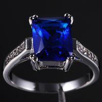 tanzanite rings - Brand Jewelry Women s Blue Tanzanite Crystal Gemstone KT Gold Filled Ring