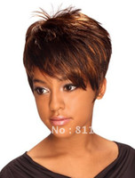 Straight SF-044 None Lace Wigs Free Shipping Heat Resistant New Stylish Light Brown Short Straight Lady's Fashion Cosplay Party Synthetic Hair Wig Wigs