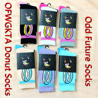 Wholesale Odd future OFWGKTA Golf Wang Black Donut Crew Socks Thicker Double Layer Bottom Sweat absorbent Anti Bacterial Terry Socks color for Choose