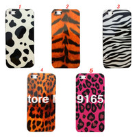 For Apple iPhone Plastic Yes Tiger Zebra Dalmatian Leopard Prints Case for iPhone 4 4S 5 5S