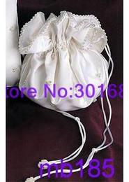 Wholesale MB185 Lovely Cheap Wedding Bridal Ivory Mini Bag Handbag beaded pearls ribbon whosale