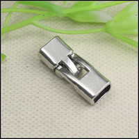 Clasps & Hooks Alloy  50Set Antique Silver Plated CLASP End Cap Clasp For 3.5x6.5mm Leather CORD jewelry findings