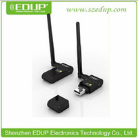 Wholesale RTL8191SU Mbps High Gain Wireless USB Adapter b g n EDUP EP MS8512 WiFi USB Wireless Network Card with dBi Antenna