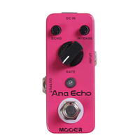 For Electric analog delay circuit - Mooer Ana Echo Analog Delay Pedal Full analog circuit warm clear smooth analog delay sound Full metal shell True bypass MU0333