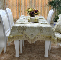 table chair - new high quality jacquard faux silk with metallic yarn table runner cloth mat tissue box cover cushion cover chair cover