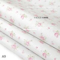 Wholesale Pvc wallpaper bedroom wallpaper furniture rustic wallpaper white pink flower