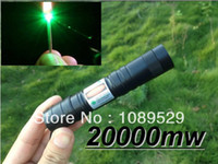 20000mw Yes Green Laser Pointers 20000mw 20w laser pointers green lasers burn match adjustable 20w+battery+changer+box+free shipping