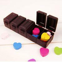 Cheap Chocolate Style Pill Box Vitamin Organizer Storage Case#4426